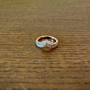 Pandora Princess Wishbone Ring in Rose Gold